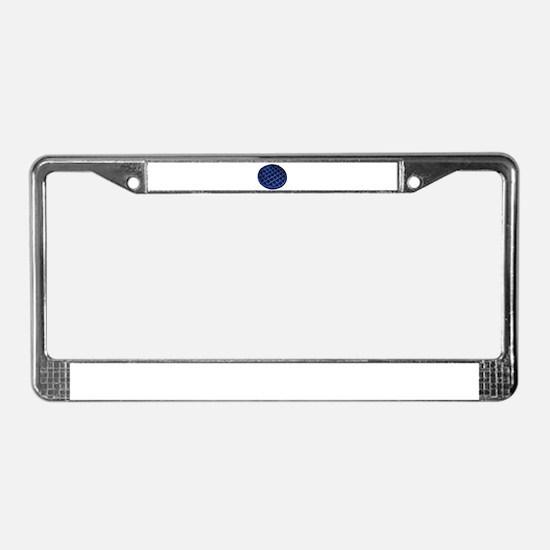 Blue Waffle License Plate Frame