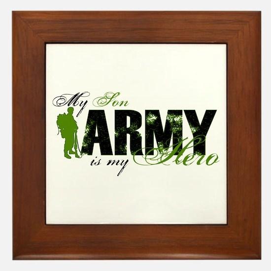Son Hero3 - ARMY Framed Tile