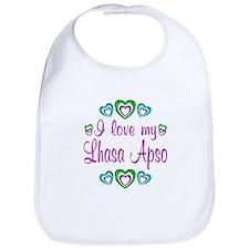 Love My Lhasa Apso Bib