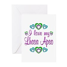 Love My Lhasa Apso Greeting Cards (Pk of 10)