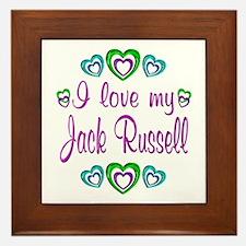 Love My Jack Russell Framed Tile