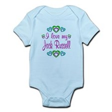 Love My Jack Russell Infant Bodysuit