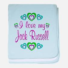 Love My Jack Russell baby blanket