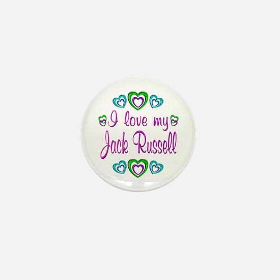 Love My Jack Russell Mini Button
