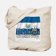 Silky Flag of El Salvador Tote Bag