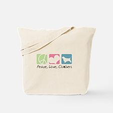 Peace, Love, Clumbers Tote Bag