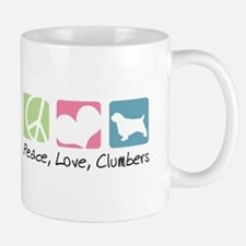 Peace, Love, Clumbers Small Small Mug