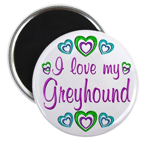 "Love My Greyhound 2.25"" Magnet (10 pack)"