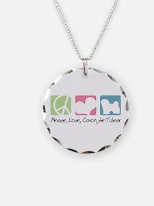 Peace, Love, Coton de Tulear Necklace