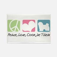 Peace, Love, Coton de Tulear Rectangle Magnet