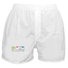 Peace, Love, Coton de Tulear Boxer Shorts