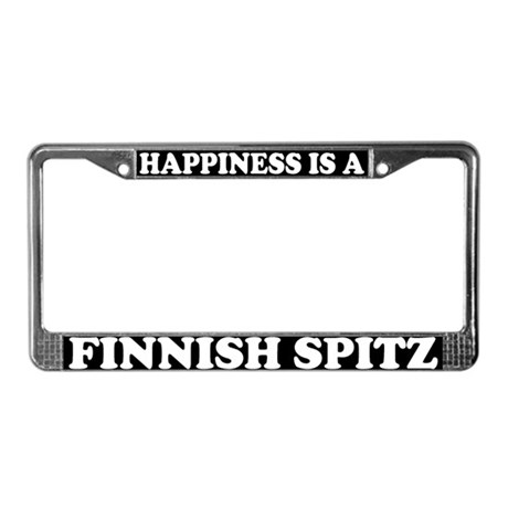 Happiness Is A Finnish Spitz License Plate Frame