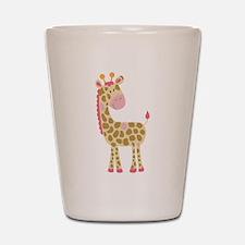 Jungle Jill Pink Giraffe Shot Glass
