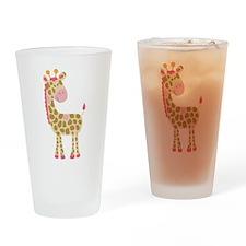 Jungle Jill Pink Giraffe Drinking Glass