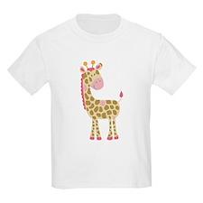 Jungle Jill Pink Giraffe T-Shirt