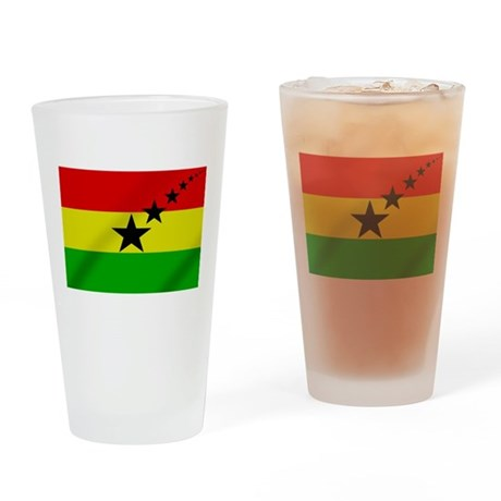 Ghana Black Stars Drinking Glass