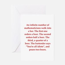 funny math joke Greeting Card