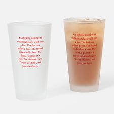 funny math joke Drinking Glass