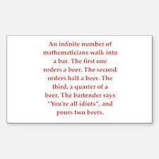 funny math joke Decal