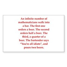 funny math joke Decal