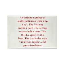 funny math joke Rectangle Magnet (10 pack)