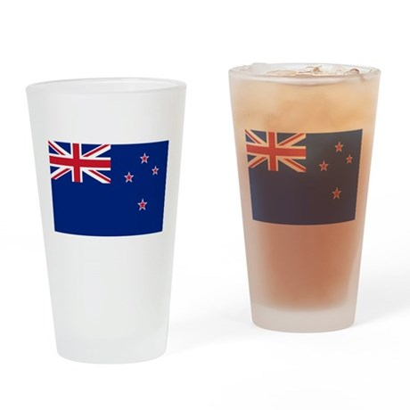 New Zealand Flag Drinking Glass