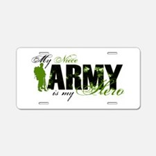 Niece Hero3 - ARMY Aluminum License Plate