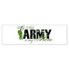 Niece Hero3 - ARMY Bumper Sticker
