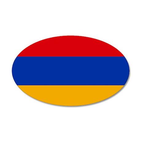 Flag of Armenia 35x21 Oval Wall Decal