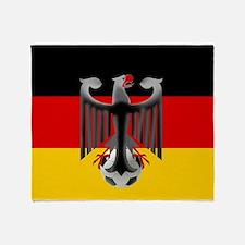 German Soccer Flag Throw Blanket