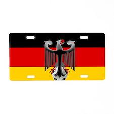 German Soccer Flag Aluminum License Plate