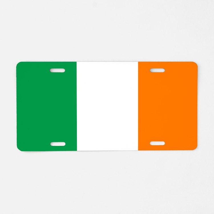 Irish flag of Ireland Aluminum License Plate