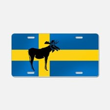 Swedens Elk / Moose Flag Aluminum License Plate