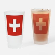 Flag of Switzerland Helvetica Drinking Glass