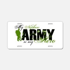 Nephew Hero3 - ARMY Aluminum License Plate