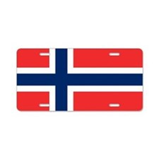 Flag of Norway Aluminum License Plate