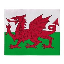Welsh flag of Wales Throw Blanket