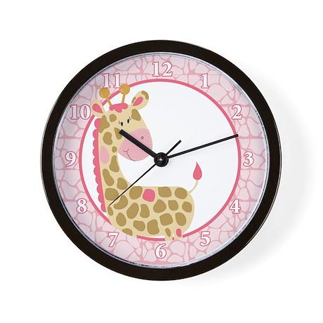 Jungle Jill Pink Giraffe Wall Clock