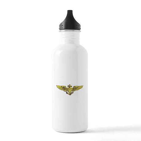 USN NAVAL AVIATOR WINGS Stainless Water Bottle 1.0