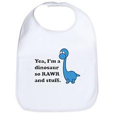 Dino Rawr Bib