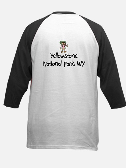Hike Yellowstone (Girl) Kids Baseball Jersey