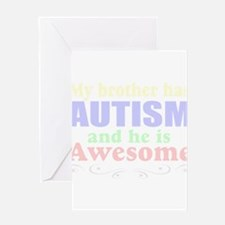 Awesom autism brother Greeting Card