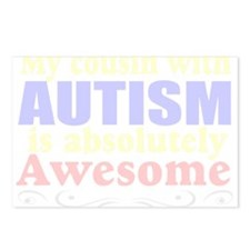 Awesome autism cousin Postcards (Package of 8)