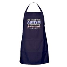 Awesome autism cousin Apron (dark)