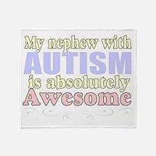 Awesome autism nephew Throw Blanket