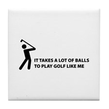 Takes a lot of balls. Golf Tile Coaster