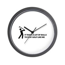 Takes a lot of balls. Golf Wall Clock