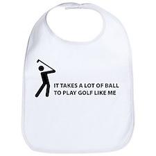 Takes a lot of balls. Golf Bib