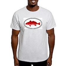 Red Fish Ash Grey T-Shirt