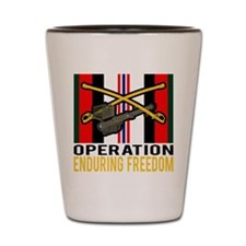 Cavalry Stinger OEF Shot Glass